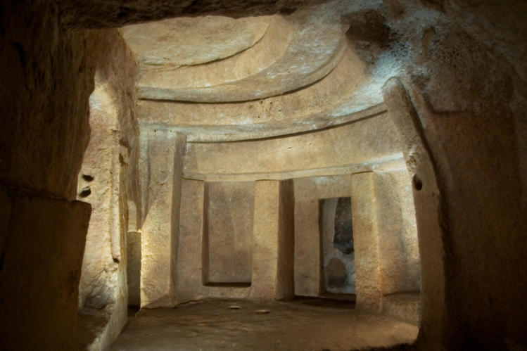 The 'Holy of Holies' at the Hal Saflieni Hypogeum