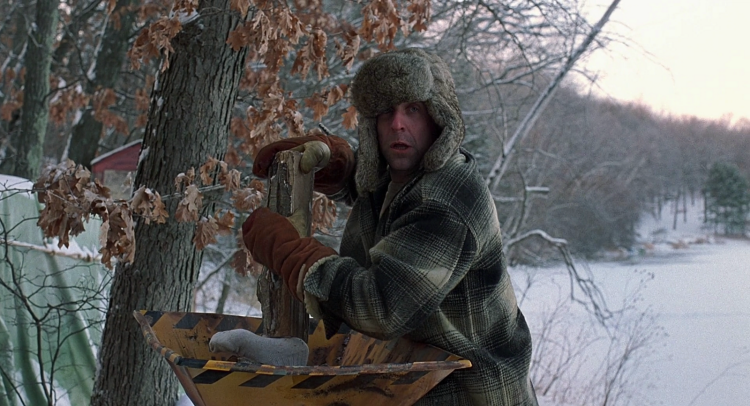 Peter Stromare in Fargo (1996). The foot belongs to Steve Buscemi's character