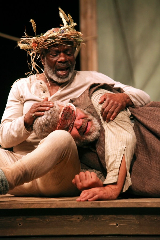 Joseph Marcell as King Lear and Rawiri Paratene as Gloucester. Photo by Ellie Kurrtz