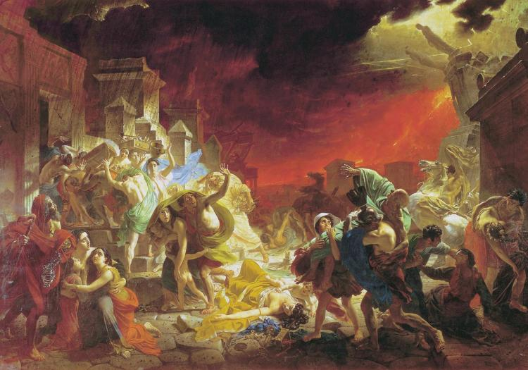The Last Day of Pompeii by Karl Briullov (1830-33)
