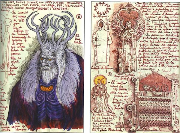 Guillermo del Toro's notebooks