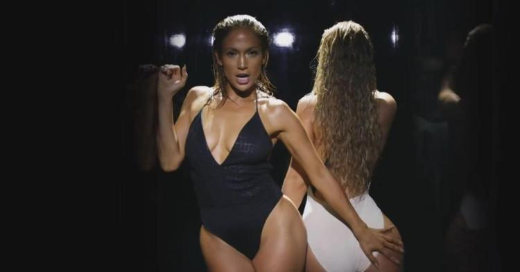 Jennifer Lopez and Iggy Azaela in the promotional video for Lopez's single 'Booty'.