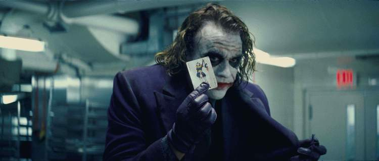 The late Heath Ledger as The Joker