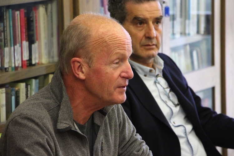 Jim Crace at a press conference at the University of Malta earlier this month. Crace will be Writer in Residence there until December 19