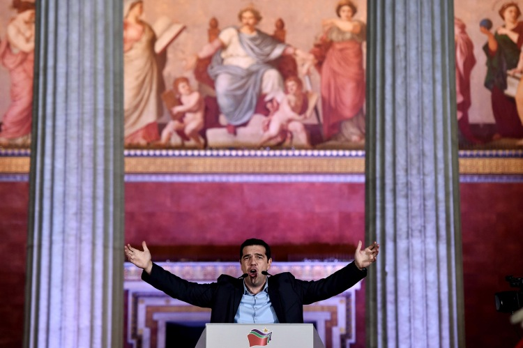 Alexis Tsipras, leader of the Greek left-wing party Syriza, was elected Prime Minister of Greece on January 25 (Photo: AFP/Getty)