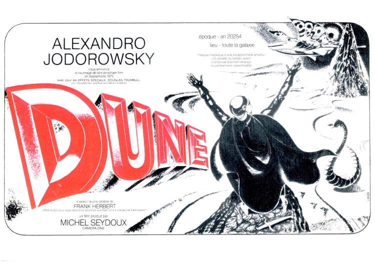 Poster for Alejandro Jodorowsky's aborted attempt at making Dune
