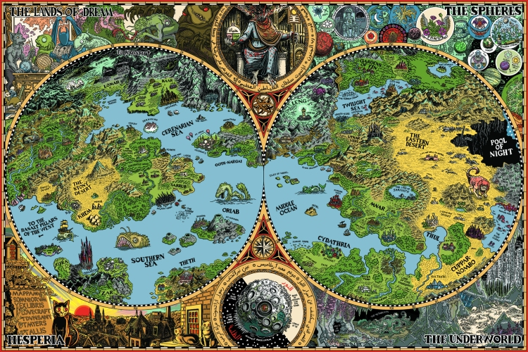 The Dreamlands of HP Lovecraft by Jason Thompson (2011). Find out more about it
