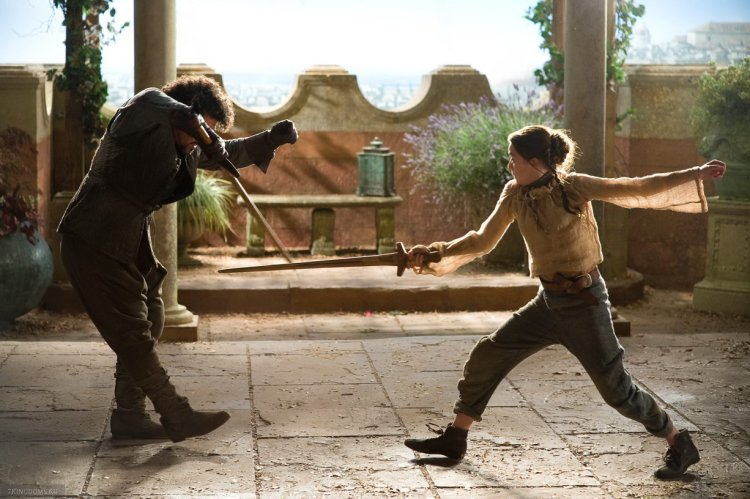 Arya Stark and Syrio Forel -- Game of Thrones, Season 1