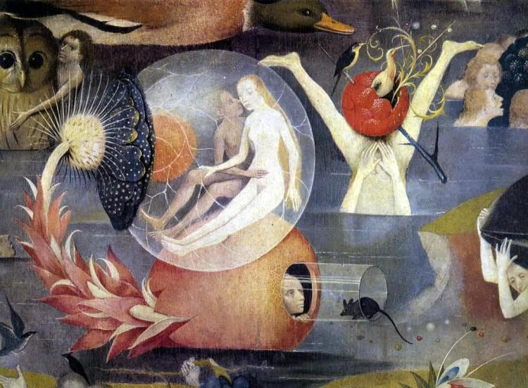 The Garden of Earthly Delights by Hieronymus Bosch (1503-1515) (Detail)