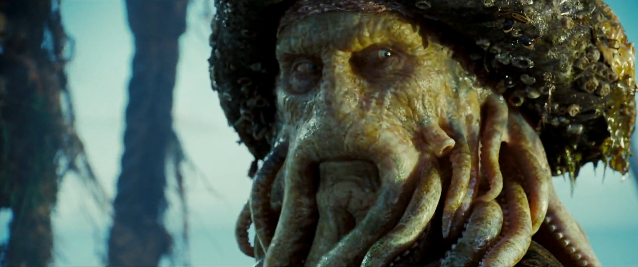 Bill Nighy as Davy Jones in the Pirates of the Caribbean film franchise