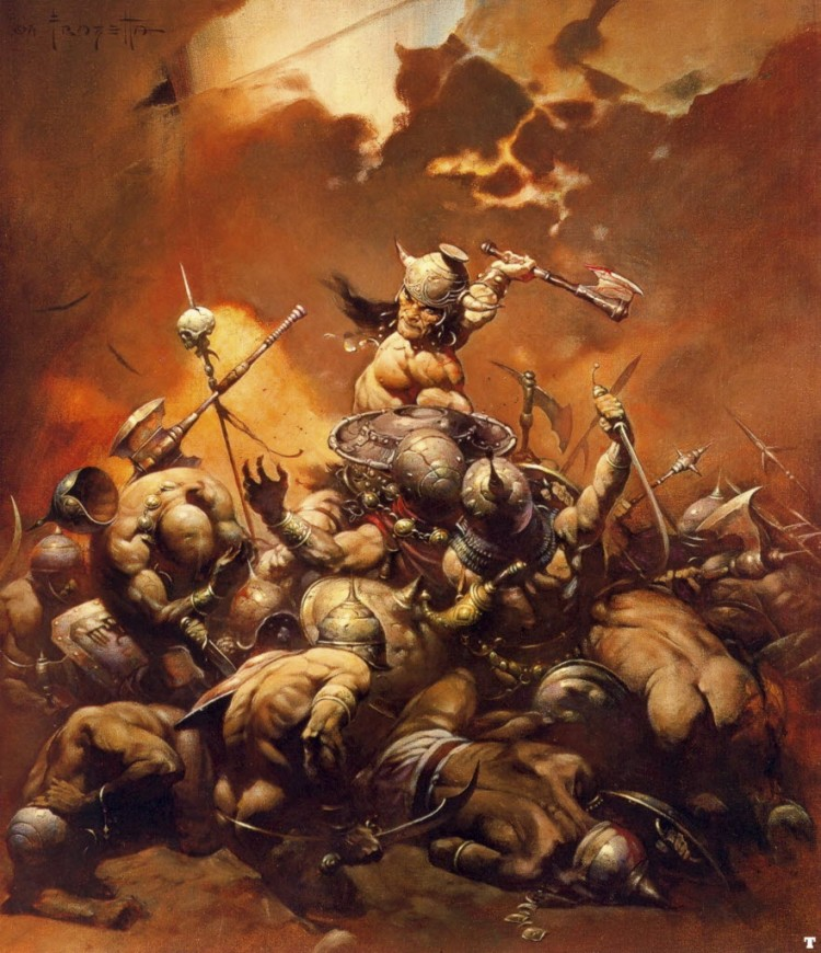 Conan the Destroyer by Frank Frazetta