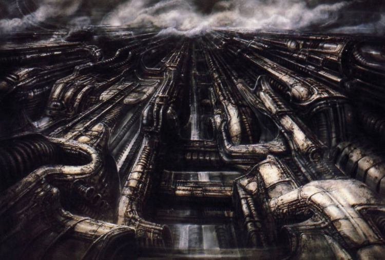 Unreal cities: Morris dedicates the final segment of his piece to HR Giger