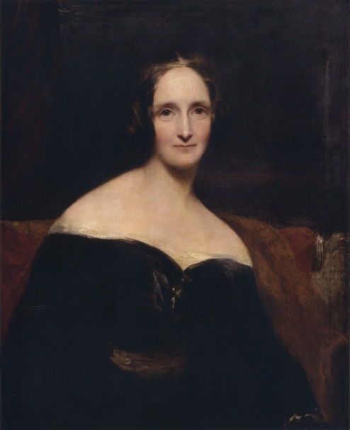 Portrait of Mary Shelley by Richard Rothwell (1840)
