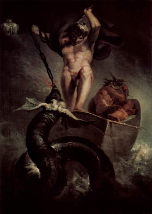 Thor Battering the Midgard Serpent by Henry Fuseli (1790)
