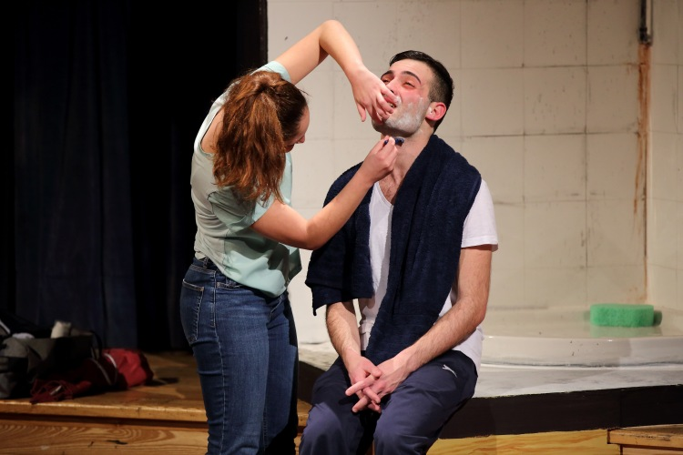 Close shave… too close: Mariele Zammit and Stephen Mintoff. (Photo: by Christine Joan Muscat Azzopardi)
